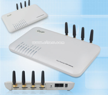 4 Ports gsm voip goip gateway SUPPORT Asterisk IP PBX