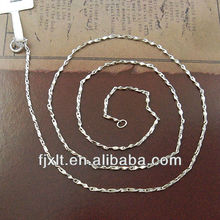 Hot Sale Double V Design 925 Sterling Silver Chain Necklace