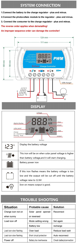 10a 12v 24v Solar Cell Panels Battery Charge Controller10amps Lamp Regulator Circuit Timer For Led