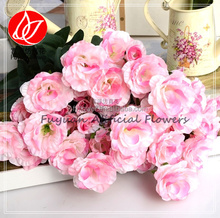 140480 china rose lisianthus artificial flower factory provide christmas flower for porcelain chinaware set