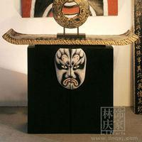 G086-30.73.82 New Oriental Style Beijing Opera Wooden Cabinet