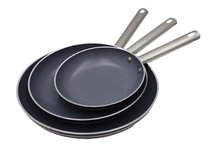 3 PCS Ceramic Non Stick Fry Frying Pan Skillet Eco Friendly Cookware