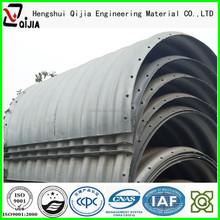 Integral corrugated metal pipe corrugated steel culvert as the small bridge in mine site
