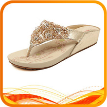 2013 fashion jewelry flip flop slippers for young lady