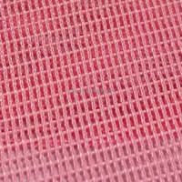 Pink Polyester Mesh Lining Fabric With Small Hole