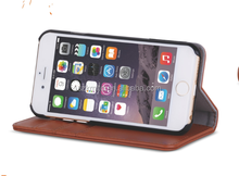 top quality stand real Leather case for iphone6/iphone 6 plus