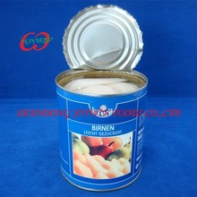 Cheap price canned food, canned pear halves in light syrup with private label