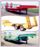 hot sale flatbed semi trailer truck 2 axle conrainer loader 40ft low bed trailer