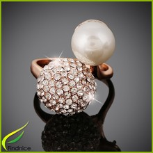 Imitation Pearl Alloy Fashion Jewelry Ring Design