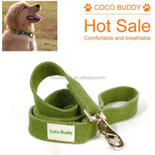 Dongguan bulk wholesale hemp dog collar and leash