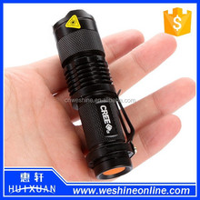Mini LED Torch 7W 400LM Q5 LED Flashlight Adjustable Focus Zoom rechargeable flash light