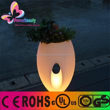 garden planter lightng waterproof outdoor planter flower pot lighting with solar charging