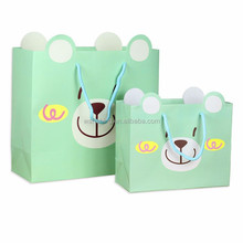 Recyclable Custom luxury paper shopping bag with handle