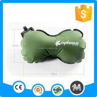 Peanut-shaped self inflatable travel pillow for camping in stock