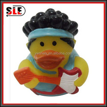 Christmas yellow duck toys Natural Rubber Bath Toy