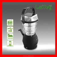 2015 new product 12volt 15pcs led rechargeable crank charging emergency camping lanterns
