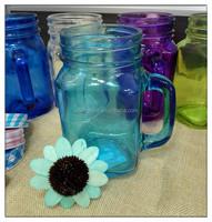 4 oz 12 oz 16 oz 20 oz Custom Made colorful square glass mason jar with metal lid