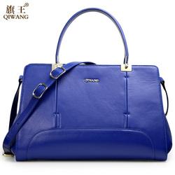 free shipping new fashion blue genuine leather handbags trend bag