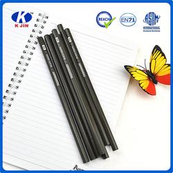 7 inches cheap natural hexagonal balck wood pencil with head