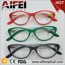 Cat eye women plastic fashion reading glasses with new color