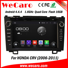 "Wecaro android 4.4.4 car radio China Factory 8"" for honda crv car dvd gps navigation system BT gps 3g TV 2006 2011"
