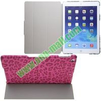 Leopard Texture Stand Case for iPad Air