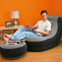 Intex 68564 Gray single inflatable sofa combination