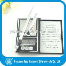 2014 metal golden/silver 5 line pattern on desk pen stand set