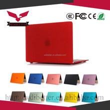Hot Sale Protective Plastic Transparent Crystal Laptop Case For MacBook Pink
