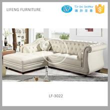 popular modern French style leather corner sofa LF-3022