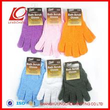 Hot Selling Polyester Bath Glove Bath Exfoliating Scrubber Glove
