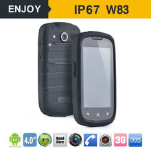 4.0 inch android waterproof cell phone W83 with 3g 2600mah gsm battery rugged waterproof cell phone