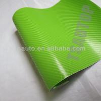 TSAUTOP ROHS certificate 1.52*30m air free bubbles 4d carbon fiber green/4d green wrap vinyl film carbon fibre vinyl wrap