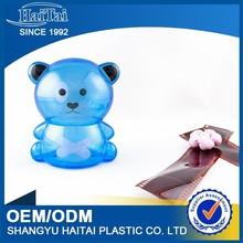Custom design plastic bear bank/fortune money box