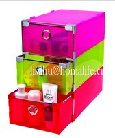 Color transparent storage case for boots for packing