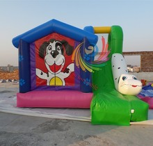 2015 cheap Inflatable Bouncer Moonwalk With Slide,Commercial Jumping Castle