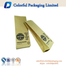 Dried fruit and nut brown kraft paper gusset packaging bags with window