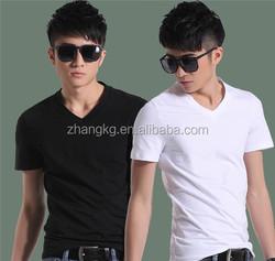 Anti-pilling cotton t-shirt,top quality V-neck shirt,Men's shirt, custom with your logo