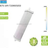 1watt138mm 72pcs*smd5050 1500 lumen led r7s bulb for lighting design 135mm led r7s