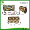2015 New Wholesale Travel Fashion Vintage Women Coconut Shell Coin Wallet Shoulder Bach Bag