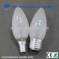 China manufacturer light bulbs that look like candles