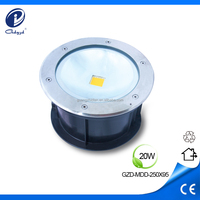 20W 12V IP68 in ground led outdoor lighting floor mounted
