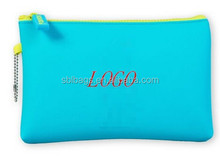 Turquoise silicone Make-up Bag for brush & silicone jelly bag & girls toiletry bags