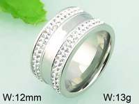 13g 12mm Clear Crystal Jewelry Men's Engagement Ring