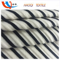 2016 black and white striped cotton knitted fabric for clothing