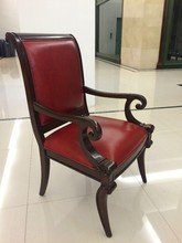 2015 modern leather wooden chair KC01 in foshan