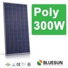 Bluesun A-grade high effeciency polycrystalline 12v 300w solar panel for sale