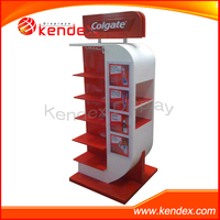Toothbrush toothpaste wooden MDF display stand +acrylic shelf