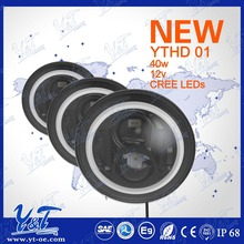 4x4 suv tuning parts 7 inch round led headlight with daytime running function
