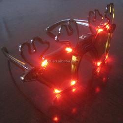 Blinking LED Eye glasses Rave Party Light Up Flashing Novelty Gift